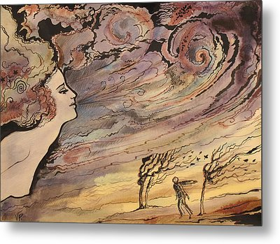 Metal Print featuring the painting The Wind by Valentina Plishchina