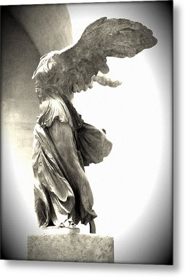 The Winged Victory - Paris Louvre Metal Print