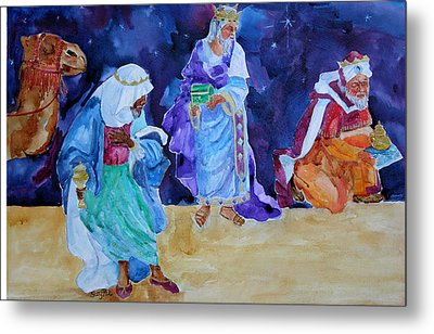The Wisemen Metal Print by Suzy Pal Powell