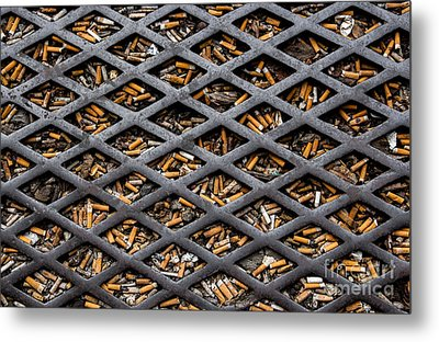 Metal Print featuring the photograph The World Becomes Your Ashtray by Sonny Marcyan