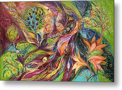 The World Of Lilies ...... The Original Can Be Purchased Directly From Www.elenakotliarker.com Metal Print by Elena Kotliarker