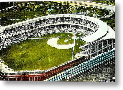 The Yankees' Polo Grounds In New York City In The 1920's Metal Print by Dwight Goss