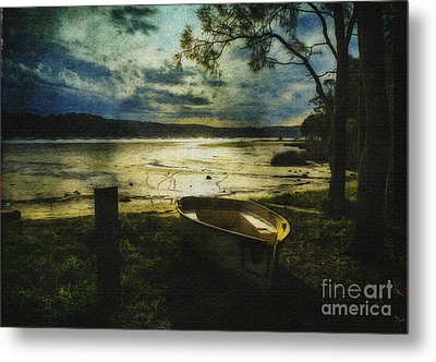 The Yellow Boat Metal Print by Avalon Fine Art Photography