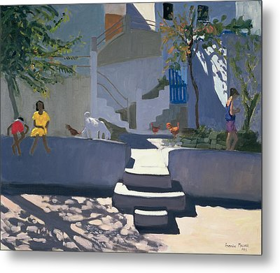 The Yellow Dress Metal Print by Andrew Macara