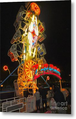 The Zipper - Carnival Ride Metal Print by Gregory Dyer
