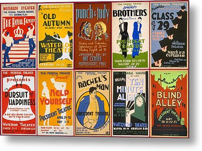 Theatre Posters Of The 1930s And 1940s Metal Print by Don Struke