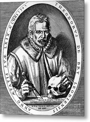 Theodor De Bry (1528-1598) Metal Print by Granger
