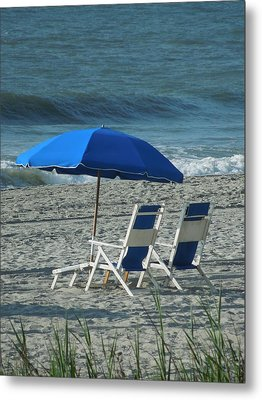 These Chairs Are Calling Your Name Metal Print