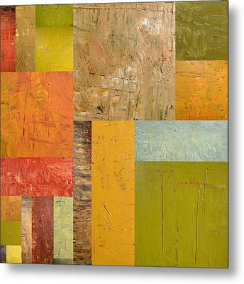 Thick Paint Abstract I Metal Print by Michelle Calkins