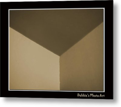 Think Outside Or Inside The Box    Optical Illusion Metal Print by Debbie Portwood