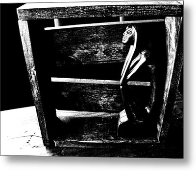 Thinking Inside The Box Metal Print by Sally Bauer