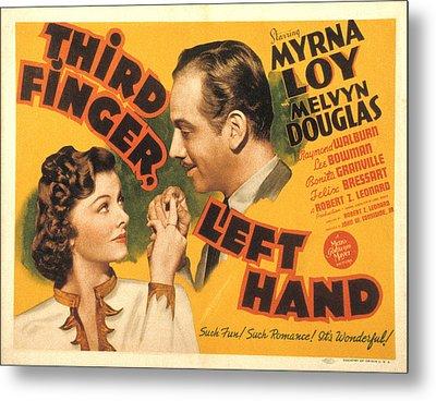 Third Finger, Left Hand, Myrna Loy Metal Print by Everett