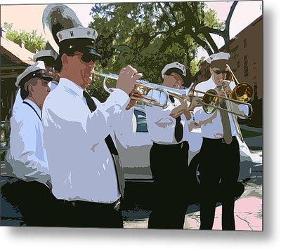 Third Line Brass Band Metal Print by Renee Barnes