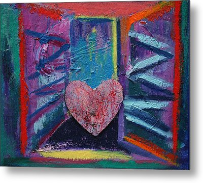This Heart Wants Out Metal Print