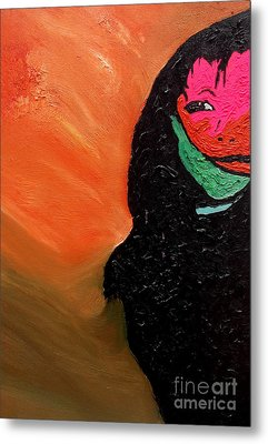 Metal Print featuring the painting This Is It by Ayasha Loya