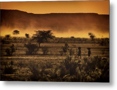 This Is Namibia No. 12 - Walking The Desert Metal Print by Paul W Sharpe Aka Wizard of Wonders