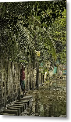 This Is The Philippines No.57 - Guess Im Gonna Get Wet Feet Metal Print by Paul W Sharpe Aka Wizard of Wonders