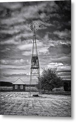 This Is Washington State No. 12 - The American Windmill Metal Print by Paul W Sharpe Aka Wizard of Wonders