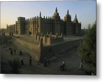 This Islamic Mosque Was Built Of Mud Metal Print by James L. Stanfield