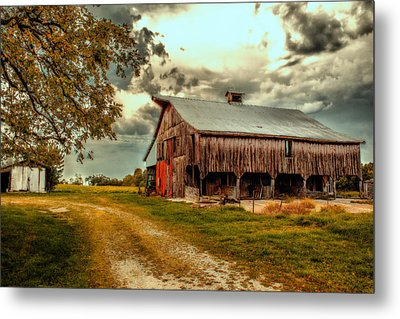 This Old Barn Metal Print by Bill Tiepelman