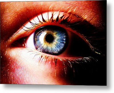 This Window To The Soul Metal Print by Eleanor Bennett