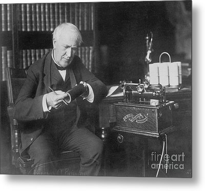 Thomas Edison, American Inventor Metal Print by Omikron