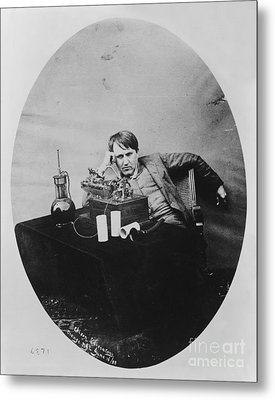 Thomas Edison, American Inventor Metal Print by U.S. Department of the Interior