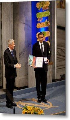Thorbjorn Jagland Presents President Metal Print
