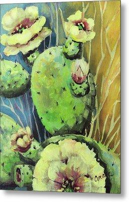 Those Bloomin' Cactus Metal Print