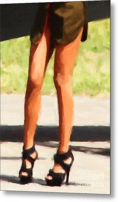 Those Legs Metal Print by Wingsdomain Art and Photography