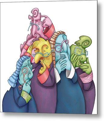 Thoughtful Lawyers Metal Print by Autogiro Illustration