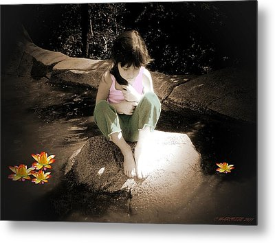 Thoughts Metal Print by Cindy Marcotte