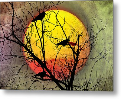 Three Blackbirds Metal Print
