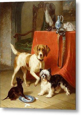 Three Dogs Metal Print by Conradyn Cunaeus