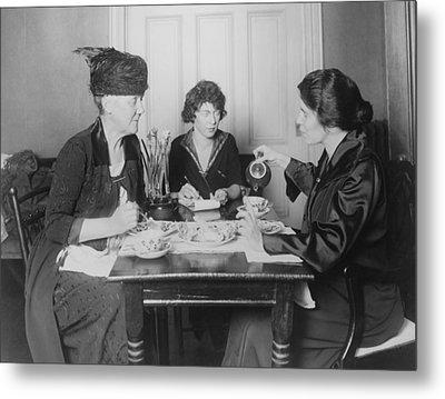 Three Feminists Activists Metal Print by Everett