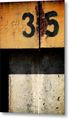 Three Five Split Metal Print by Odd Jeppesen