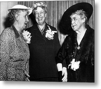 Three Former First Ladies, L-r Bess Metal Print by Everett
