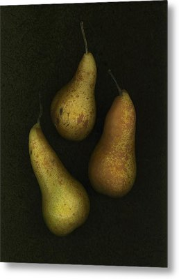 Three Golden Pears Metal Print by Deddeda