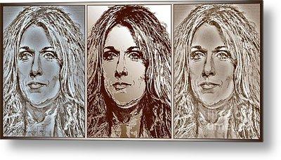 Three Interpretations Of Celine Dion Metal Print by J McCombie