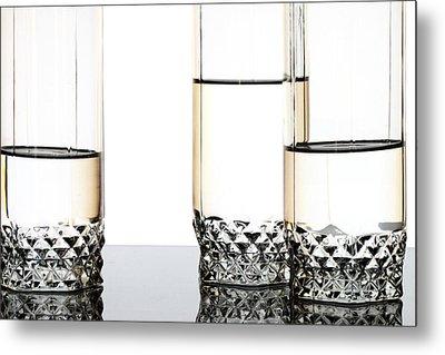 Three Luxury Glasses Metal Print by Dmitry Malyshev