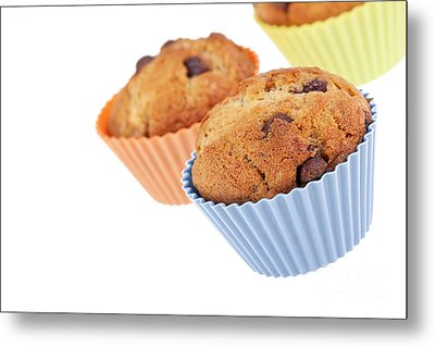 Three Muffins Metal Print