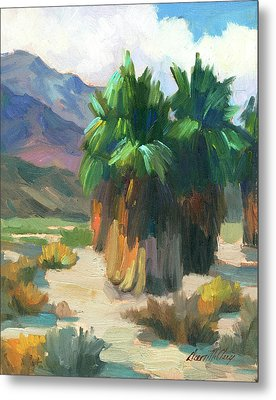 Three Palms Metal Print by Diane McClary