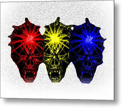 Metal Print featuring the photograph Three Skulls by Blair Stuart
