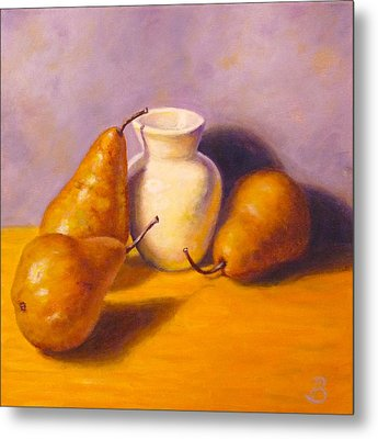 Three's A Pear Metal Print