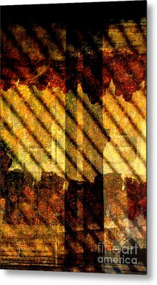 Through Glass And Metal Metal Print
