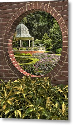 Through The Garden Wall Metal Print by William Fields