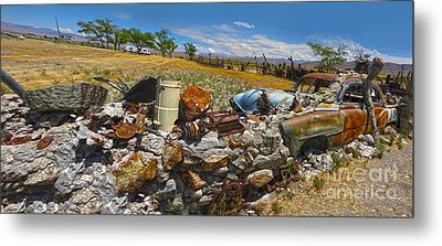 Thunder Mountain Indian Monument - Great Wall Metal Print by Gregory Dyer