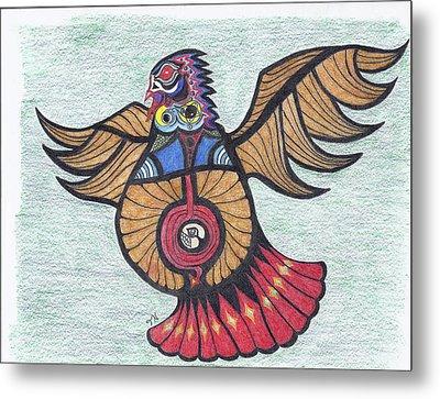Thunderbird Totem Metal Print by Tony  Nelson