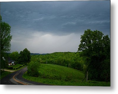 Metal Print featuring the photograph Thunderstorm by Kathryn Meyer