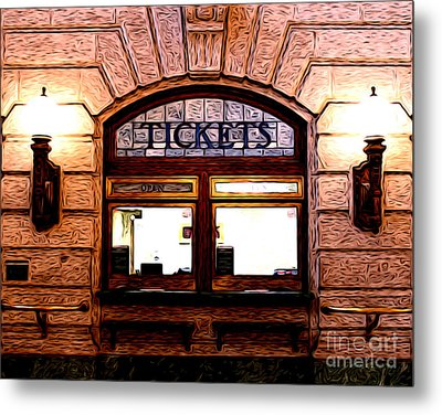 Metal Print featuring the photograph Ticket Booth by Anne Raczkowski
